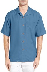Tommy Bahama Men's Big And Tall Royal Bermuda Silk Blend Camp Shirt Buccaneer Blue