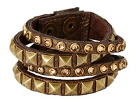 Leather Rock B340 Deer Amber Bracelet Gold