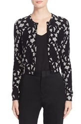 Tracy Reese Women's Print Cardigan Pinecone Wallpaper