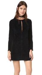 3X1 Wd Long Sleeve Keyhole Dress Black Overdye