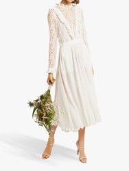 French Connection Clandre Lace Jumpsuit Summer White