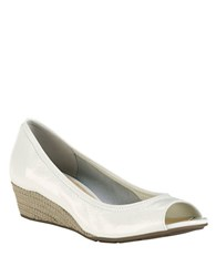 Cole Haan Tali Open Toe Wedges Ivory