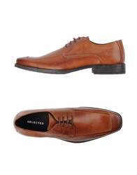 Selected Lace Up Shoes Brown