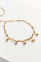 Urban Outfitters Karma Charm Choker Necklace Gold