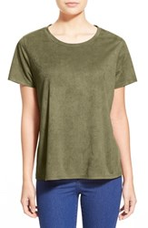 Women's Madison And Berkeley Faux Suede Tee