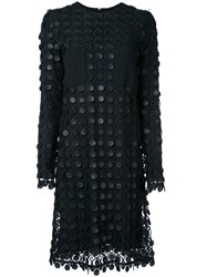 Carven Layered Lace Dress Black