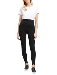 French Connection Selby Jersey Stirrup Leggings Black