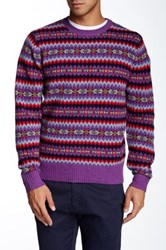 Bonobos Thacher Fairisle Crew Neck Sweater Purple