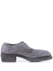 Guidi Lace Up Shoes Light Grey