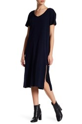 Allen Allen Short Sleeve Dress Petite Blue