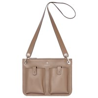 Modalu Carter Leather Shoulder Bag Fawn