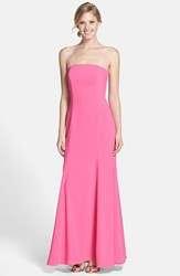 Women's Dessy Collection Strapless Crepe Trumpet Gown