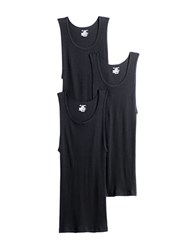 Jockey 3 Pack Stay New Cotton Tank Top Black
