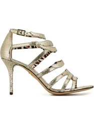 Charlotte Olympia 'Dazzling' Sandals Metallic