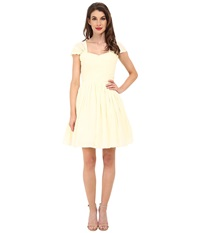 Unique Vintage Chiffon Short Garden State Dress Cream Women's Dress Beige