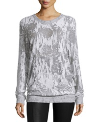 Norma Kamali Distressed Boyfriend Sweatshirt Gray