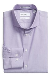 Calibrate Men's Big And Tall Trim Fit Stretch No Iron Dress Shirt Purple Petunia
