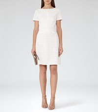 Reiss Magnolia Womens Cut Out Dress In White