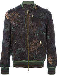 Etro Printed Zipped Sweatshirt Brown