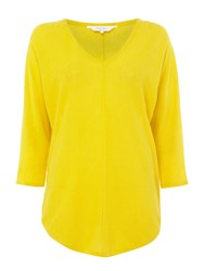 Part Two Relaxed V Neck Jumper Yellow