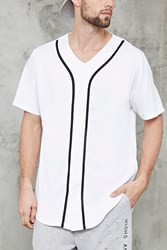 Forever 21 Contrast Piping Baseball Jersey