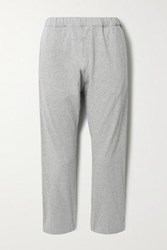 Bassike Net Sustain Organic Cotton Jersey Track Pants Gray