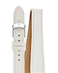 Michele Double Wrap Leather Watch Strap 16Mm White