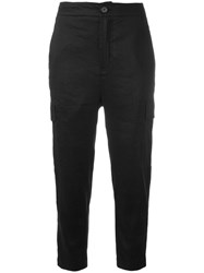 Vince Cargo Cropped Trousers Black