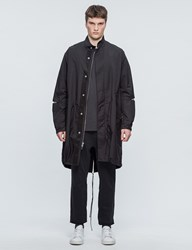 3.1 Phillip Lim Fish Tail Parka With Mesh Sleeve Lining