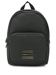 Versace Jeans Logo Backpack Black