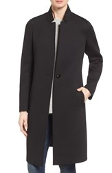 Nanette Lepore Women's Lapore Notch Collar Reefer Coat Black