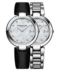 Raymond Weil Shine Diamonds And Stainless Steel Watch And Interchangeable Straps Set Silver