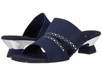 Onex Letty Navy Silver Women's Sandals Blue
