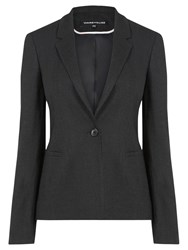 Warehouse Textured Tailored Blazer Black