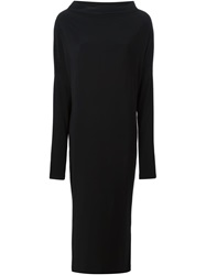 Norma Kamali Long Shift Dress Black