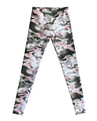 Terez Metallic Camo Leggings Black