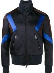 Neil Barrett Panelled Sport Jacket Blue