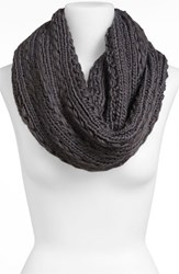 Junior Women's Lulu Cable Knit Infinity Scarf Grey Online Only