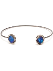 Kimberly Mcdonald Bolder Opal And Diamond Wire Bangle Blue