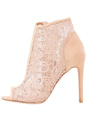 Missguided High Heeled Ankle Boots Nude