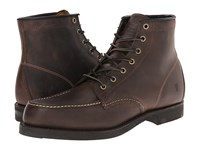 Frye Arkansas Moc Toe Gaucho Oiled Leather Men's Lace Up Boots Brown