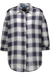 Mih Jeans M.I.H Poets Checked Woven Shirt Storm Blue