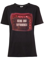 Each X Other 'Nothingness' Print T Shirt Black