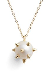 Women's Nektar De Stagni 'New Classics' Spike Cultured Pearl Pendant Necklace
