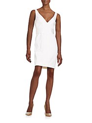 Proenza Schouler Belted Plunge Sheath Dress White
