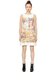 Tsumori Chisato Comic Printed And Sequined Twill Dress