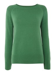 Barbour Lowmoore Knit Jumper Green