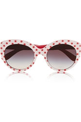 Dolce And Gabbana Cat Eye Polka Dot Acetate Sunglasses