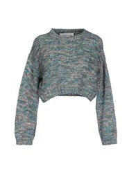 5Preview Sweaters Turquoise