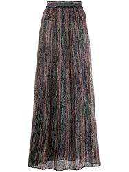 M Missoni Lurex Knitted Skirt Brown